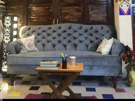 New Classic sofa seven seater in imported fabric