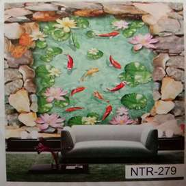 3D cstom wallpaper 375rbu/mter persegi