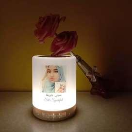 Speaker bluetooth + lampu hias tidur foto hadiah kado gift custom unik