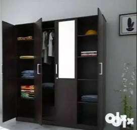 Flipkart Perfect Homes Julian Engineered Wood 4 Door Wardrobe (Finish