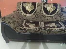 Five seater corner sofa of SAG WOOD and home made