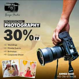 Photography and Videography 30% Off