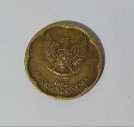 Uang koin Rp. 500 Bunga Melati tahun 1992