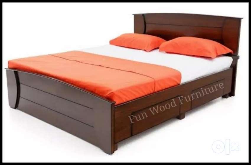 Wooden Cot  - Queen Size - Best Offer  Sale 0
