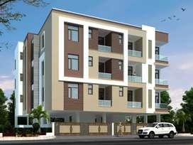 3 bhk spacious flat near main road