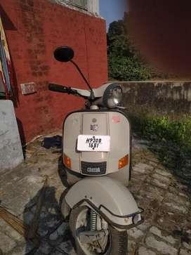 Bajaj scooter passing ktm hai