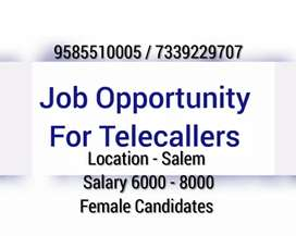 Telecalling job for female candidates