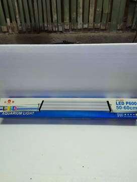 Aquarium lampu LED p600 50-60 cm 9 w putih biru