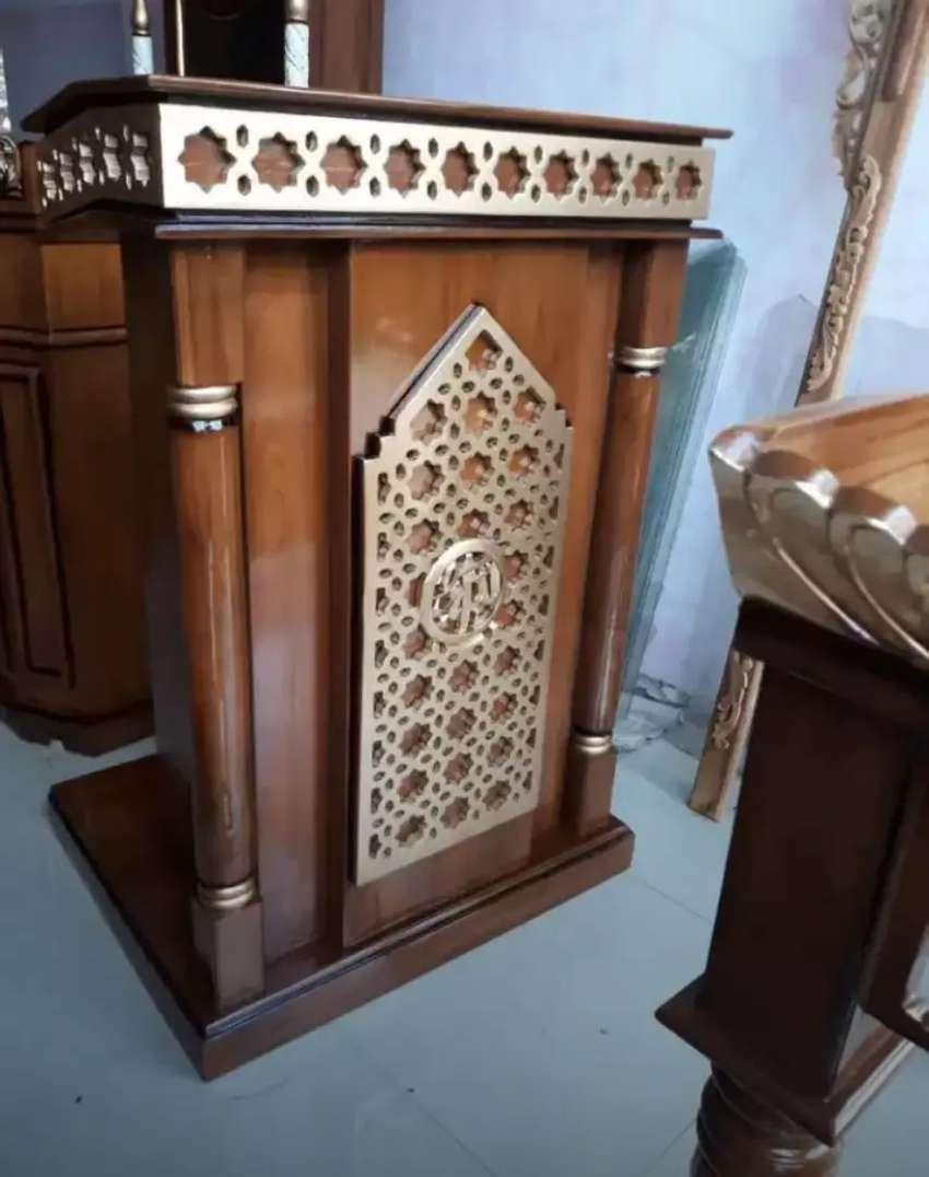 mimbar masjid bahan jati murah meriah 0