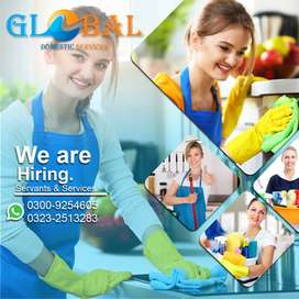 Maid working full time