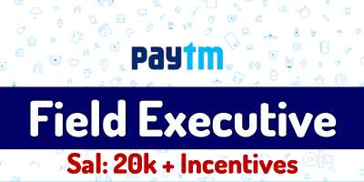 PAYTM process hiring for  KYC / Sales Executives in NCR - Apply now. 0