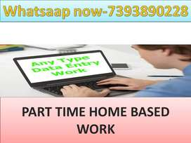PART TIME JOB OF DATA ENTRY HOME BASED WORK AVAILABLE TYPING PROJECTS