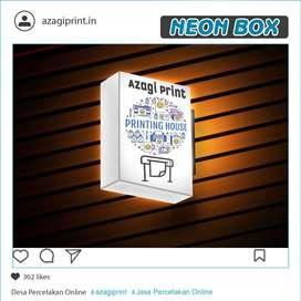 Neon Box Kotak 30 x 120 cm 2 sisi