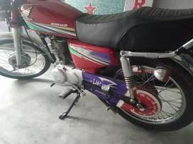 Honda 125 red color lohore number