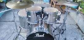 Dijual drum merek pearl forum  Warna abu-abu