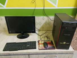 LG Computor+CPU+ Mouse and mouse pad+ keyboard