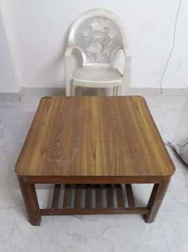 Solid wooden center table 2.5 by 2.5 feet
