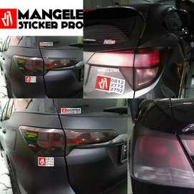 Stiker Anti Gores utk Perlindungan Kaca Lampu Mobil Mangele Premium