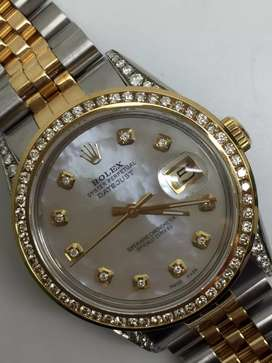 Rolex Men 18KSS Kerang Diamond case Diamond