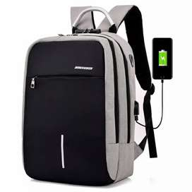 Axzhixing Tas Ransel Laptop Cross Border Security Lock dengan USB