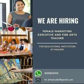 Fine Arts Teacher, Marketing Executive