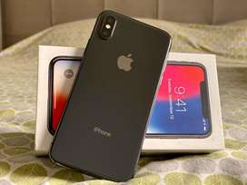 IPhone X Space Grey 64GB scratch less Mint condition