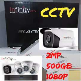 Cctv kamera keamanan, dvr hd 4 out infinity