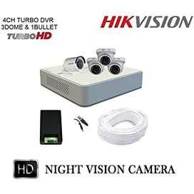 4 CCTV Camera Set With Installation