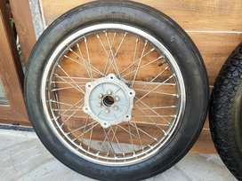 MRF Tyre's and original Royal Enfield spike rims