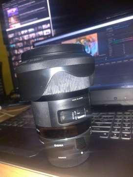 Lensa sigma 24mm for canon (Fullset)