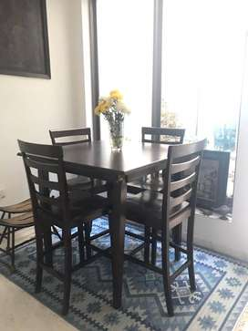 Solid Wood 4 seater Dining Set  (dining table + 4 dining chairs)