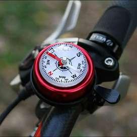 Klakson sepeda gunung dengan kompas