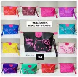 Tas Pouch Make Up Hello Kitty