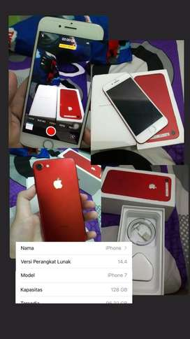 Iphone 7 red 128gb second ex inter
