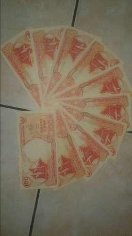 Uang kuno 100 rupiah perahu pinisi th 1992