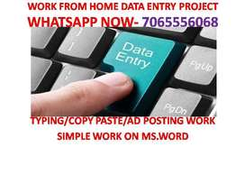 - PART TIME work Offline Home based job Data entry work typing job at