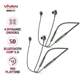 Headset Earphone Bluetooth Vivan Liberty N100 Chip 5.0 Waterproof IPX4