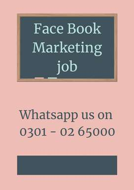 Sizzling opportunity to earn from home – face book marketing job