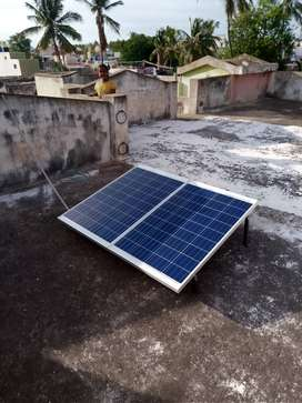 Solar panel for current