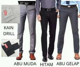Celana Kain Formal Kantor Kerja Slimfit/Regular Fit Ready Size 28-44