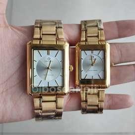 Jam Tangan Couple Capilano 1257 Gold