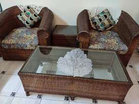 Sofa set , 3 seater ,center table , side table