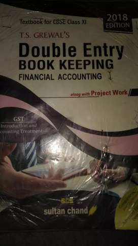 Class= 11 accounts book double entry(finicial accounting)  T. S Grewal
