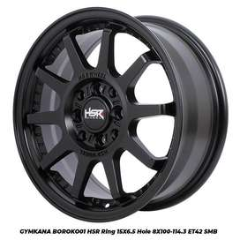 PROMO VELG GYMKANA HSR RING 15 HOLE8X100-114,3 BLACK