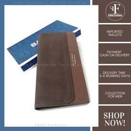 Long Size Imported Wallet - Brown Color Dual Shade