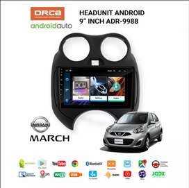 Head unit android orca for nissan march pnp