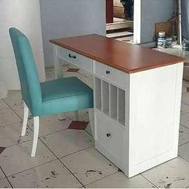 Meja belajar, meja kerja, meja+kursi, kayu jati finis duco,freeongkir