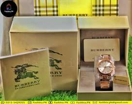 Ladies Original Burberry BU-9004 Rose Gold Watch with Complete Box