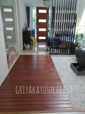 Decking kayu bengkirai/pagar kayu/kanopi kayu/plafon kayu/lantai kayu