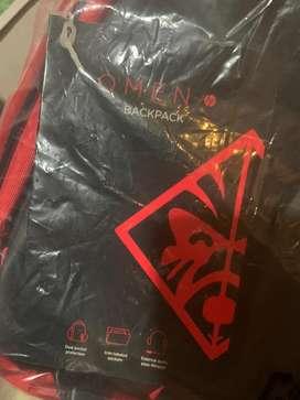 HP OMEN Gaming Backpack 17.3 Black Red Tas Laptop DISKON